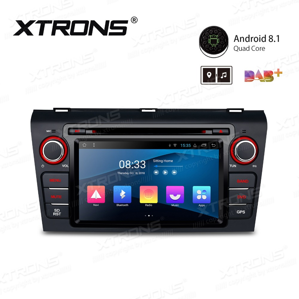 7'' Android 8.1 Car DVD Player <font><b>Radio</b></font> Stereo GPS Navigation Steering Wheel OBD for <font><b>Mazda</b></font> <font><b>3</b></font> 2004 2005 2006 2007 2008 <font><b>2009</b></font> image