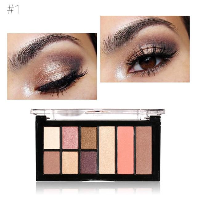 maria ayora 9 colors eye shadow makeup shimmer matte eyeshadow earth color eyeshadow palette cosmetic makeup - Earth Colors