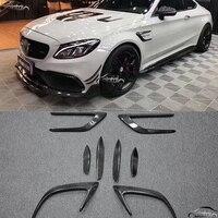 For Benz W205 2 Door C63 Car Styling Carbon Fiber 8 PCS Set Air Flow Fender