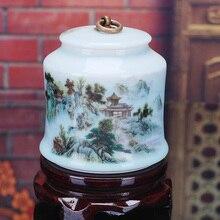Jingdezhen Ceramic Tea Jar Canister Gift Sealed Tank Shining
