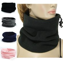 2018 1PC 3in1 Unisex Beanie Hats Ski Snood Scarf Women Men Thermal Fleece Scarf Snood Neck Warmer Face Mask Winter Spring(China)