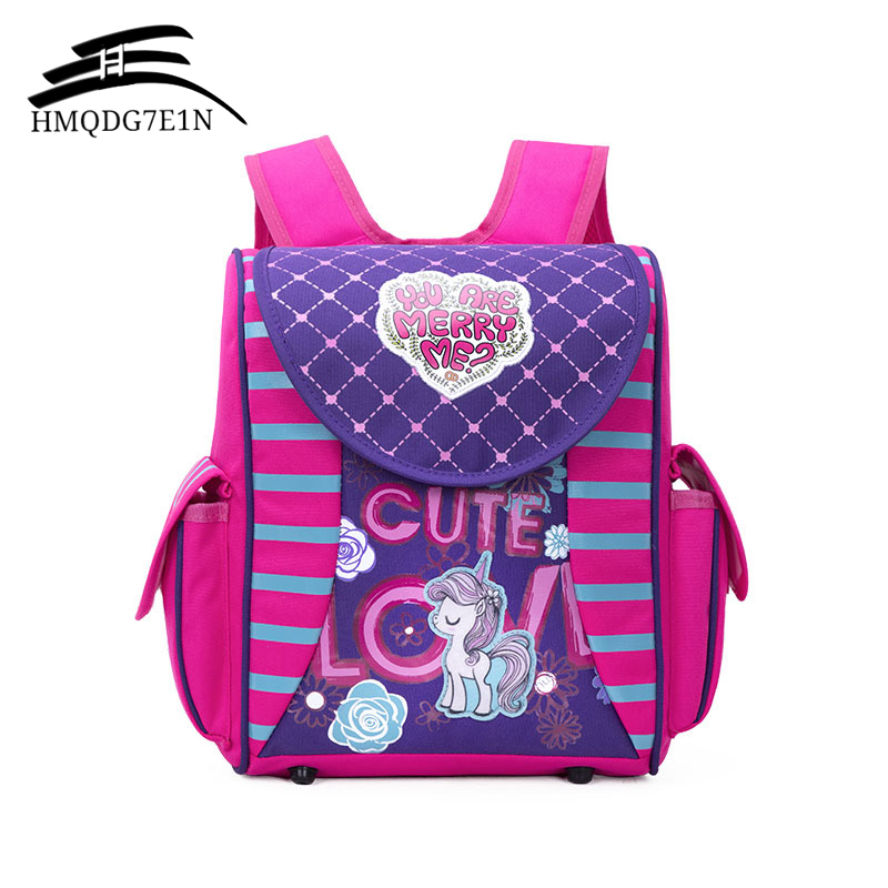 New Style Children School Bags for Girls Cute Cartoon Print School Bags Waterproof Orthopedic Kids Bag Students Rucksack 1-3