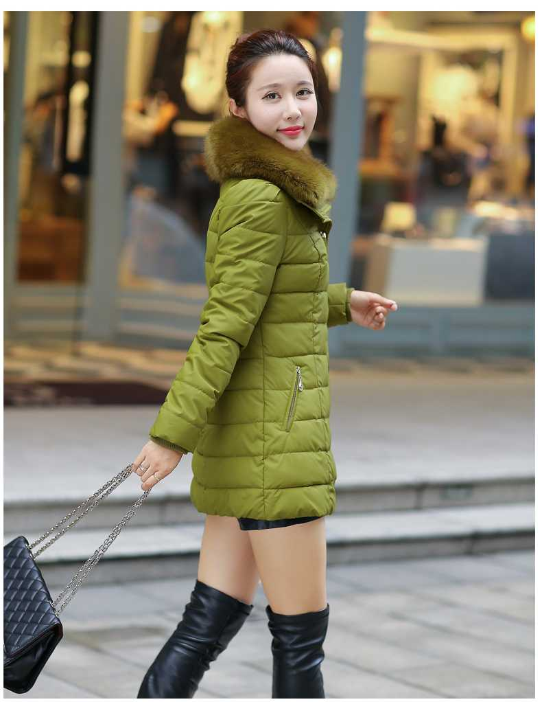 ФОТО 2015 Winter Coat Women Large Fox Fur Middle Aged Women's Down Jacket Parka Outerwear Plus Size 4XL Fashion Mother Clothing H5358