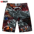 LKBEST Loose Men's board shorts high quality men beach short quick dry men swimwear short plus size M-5XL N1523
