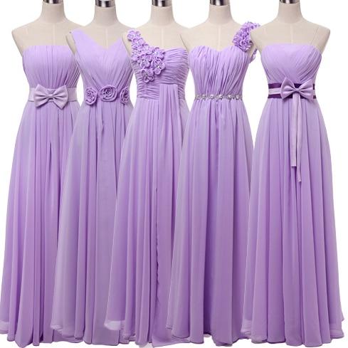 Popular Light Purple Long Bridesmaid Dresses-Buy Cheap Light ...