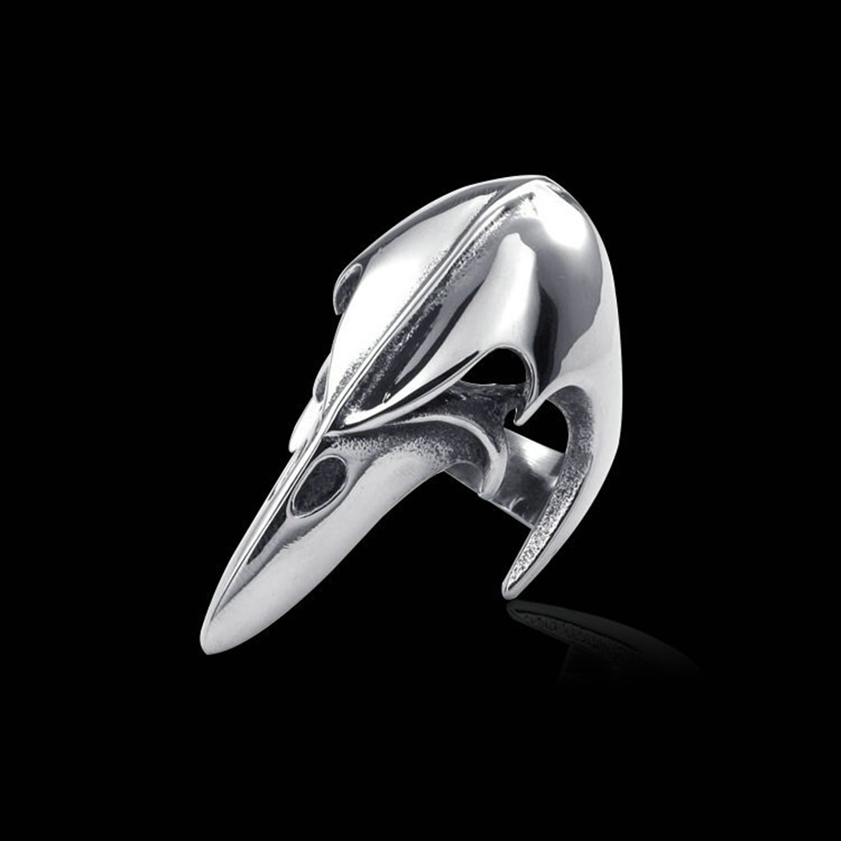 2018 For Men De-fense Finger Ring Self-defense Domineering Eagle Mouth Shape Ring Punk Exaggerated Joint Ring retro style eagle claw shape alloy women s finger ring