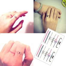Finger Striped Tattoo Sticker Waterproof Refers To The Temporary Body Tattoo Sticker Art