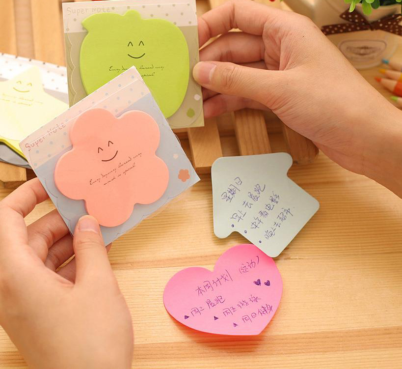 1Pcs New Korea Stationery Lovely Color Can Tear Sticky Paste N Times Note Paper Notes Posted Creative Cartoon Book H0464