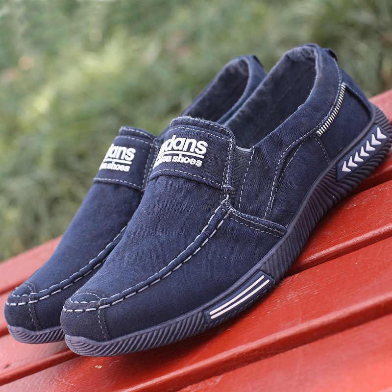 Zapatos casuales para Hombres Calientes zapatos de lona para hombres mocasines de mezclilla zapatos transpirables zapatillas de moda para hombres zapatos para caminar calzado Masculino