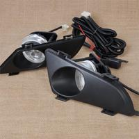 High Quality New Set Black Front Right Left Clear Fog Lights Lamp Fog Lens With Wiring
