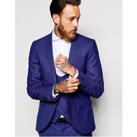 Новый костюм Костюмы пользовательские женихов Для мужчин шаль лацкане жениха Смокинги для женихов Королевский синий Для мужчин Костюмы Св