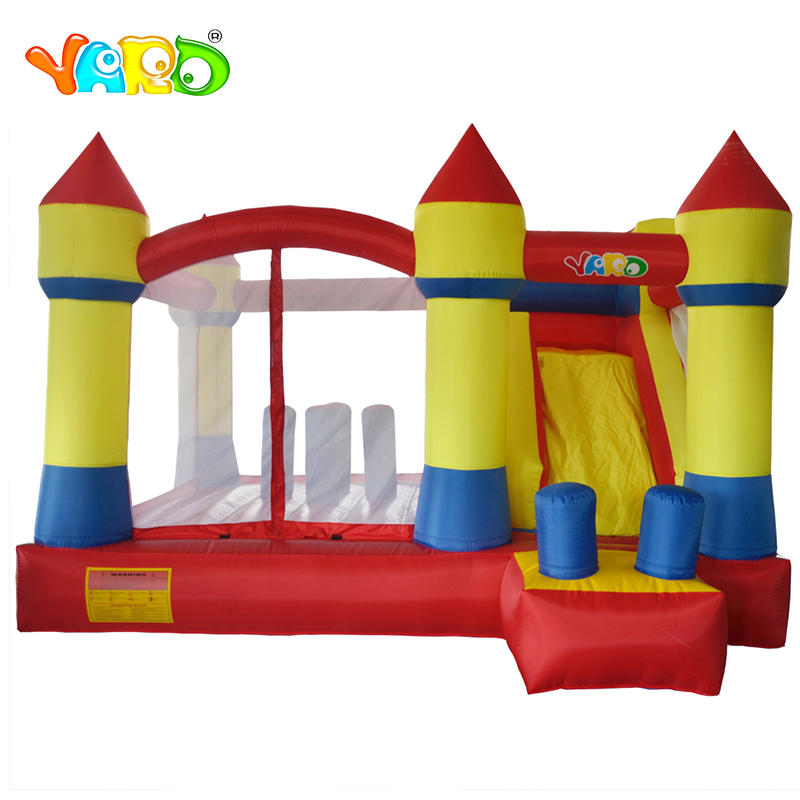 цена на YARD Free Balls Inflatable Trampoline Obstacle Course Slide Blower Inflatable Bouncer Castle Ship By Express Christmas