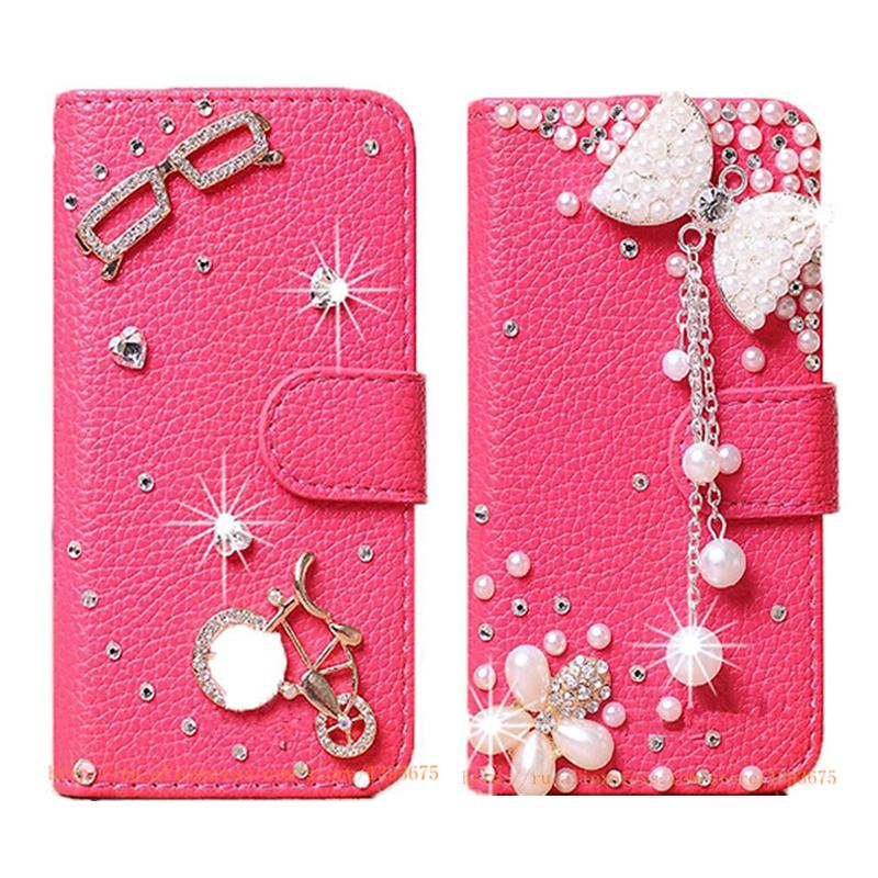buy popular c1b06 e5b50 US $10.09 |Luxury Handmade Phone Cases Diamond Rhinestone Case for  Blackberry Priv Leather Wallet DIY Mobile Phone bag with Card slot on ...