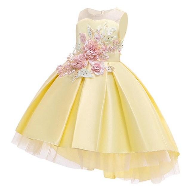 Cotton Lining Baby Girls Dress For Girls Wedding Party Dresses Kids Princess Summer Dress Children Girls Clothing Age 2-10 T