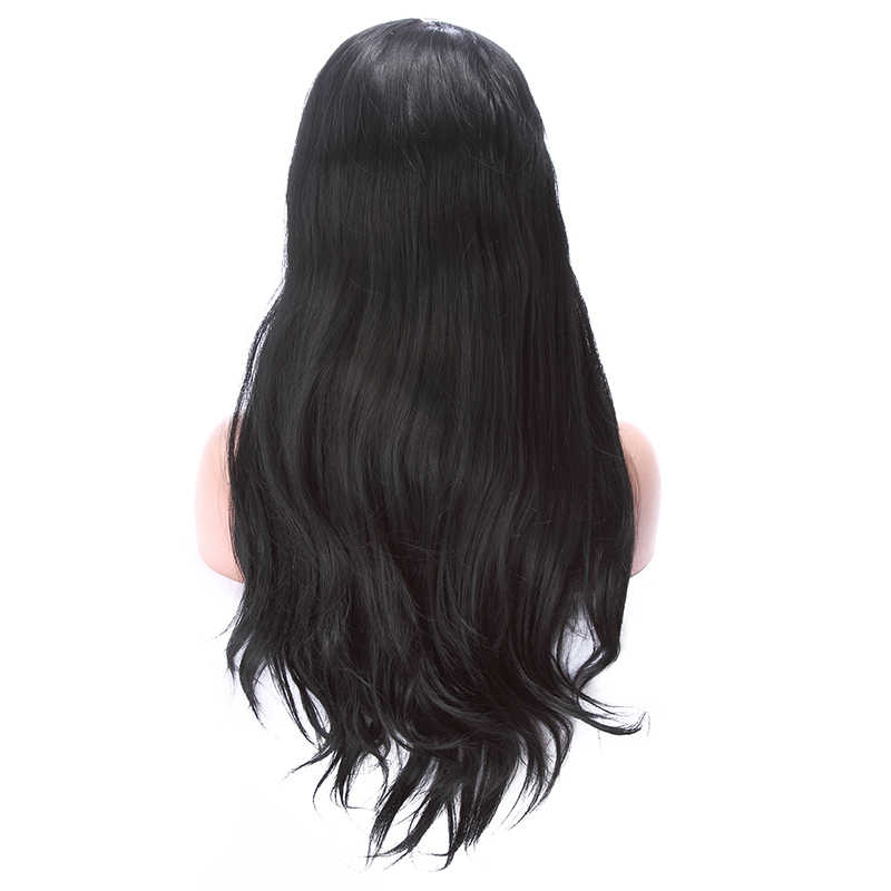 L-email wig Long Black Lace Front Wigs 70cm Synthetic Lace Front Wig Loose Wave Women Hair Heat Resistant Synthetic Hair Perucas