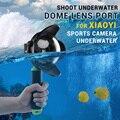 НОВЫЙ Shoot Дайвинг Подводный бокс Купол Объектив Порт для Xiaoyi Спорт Камеры Подводные + Float Монопод + Shoot Мешок