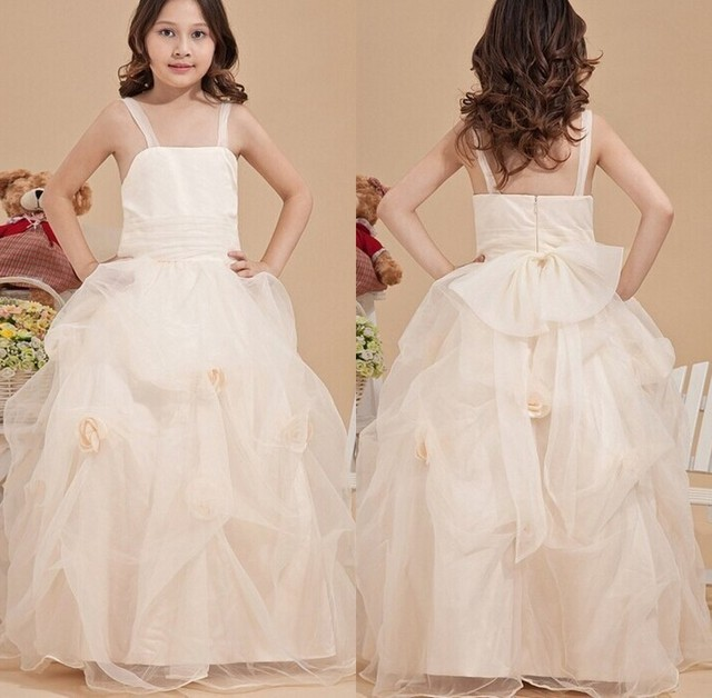 2014 Latest Designs Cinderella Princess White Layered Ball Gown Kids ...
