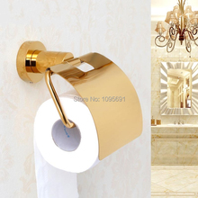 MAIDEER Твердой меди, латуни золото бумажная коробка держатель рулона туалетной золото ткани поле держатель для бумаги Аксессуары Для Ванной Комнаты