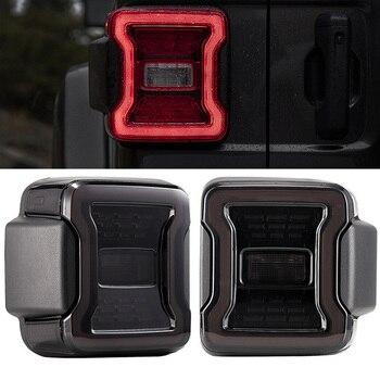 For Jeep Wrangler JL 2018 2019 Car Tail Light Series Rear Lamps Brake Reverse Light USA Version Led Tail Lamp