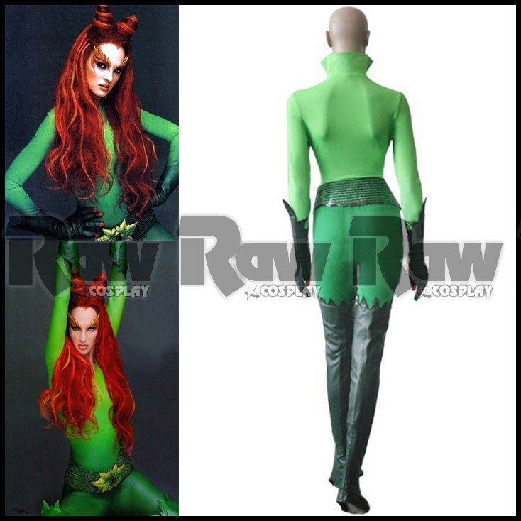 Batman And Robin Moive Character Poison Ivy Chirstmas Cosplay Green