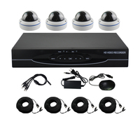 Aokwe 1280 720P HD 1200TVL Metal Dome Security Camera System 1080P HDMI CCTV Video Surveillance 4CH