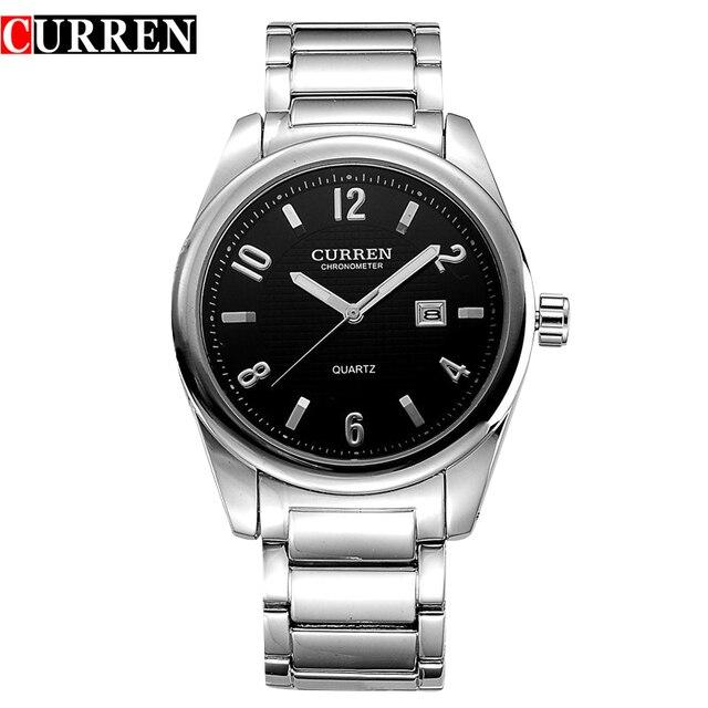 CURREN 8048 Моды для Мужчин Спортивные Часы Кварцевые Аналоговые Наручные Часы мужская Полный Военные Часы Relojes