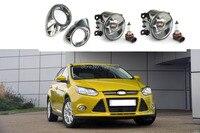 1 Set mistlampen lampen en galvaniseren chrome covers kit voor Ford Focus 3 III 2012-2014