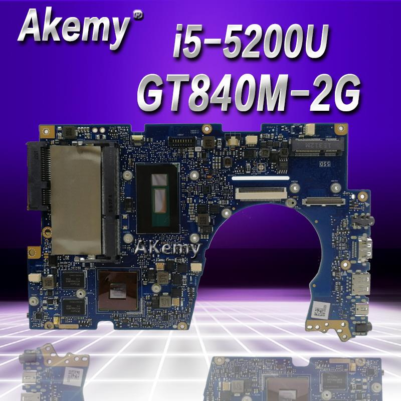 Akemy UX303LN Laptop Motherboard For ASUS UX303LN UX303LB UX303L UX303 Test Original Mainboard 4G RAM I5-5200U GT840M-2G