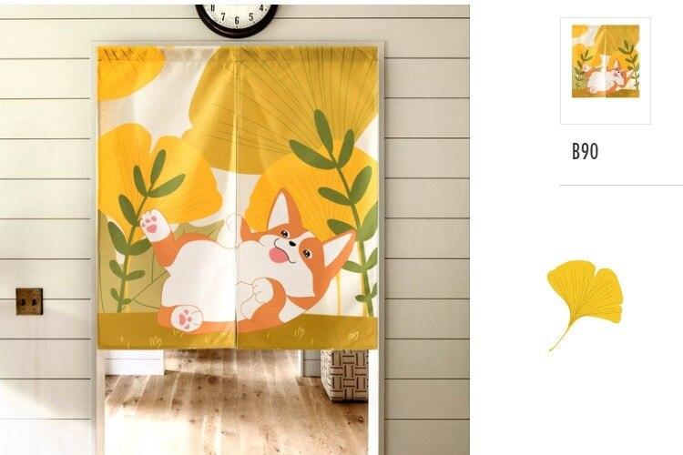 estilo japonês porta cortina portiere pendurado tela