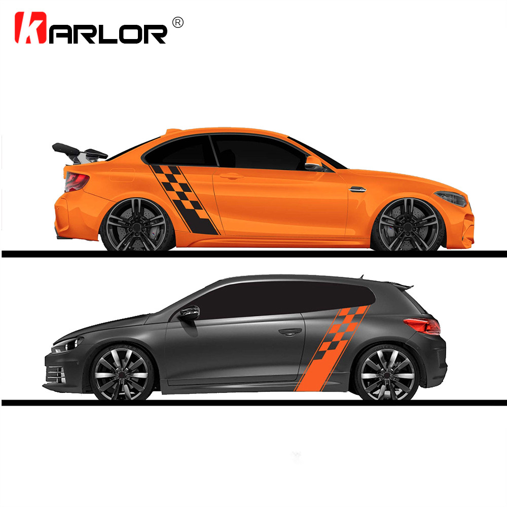 2pcs/lot 130x24cm Race Style Bumper Stickers Both Sides Stickers Car Wrap Vinyl Film Automobiles Products Goods Car Accessories