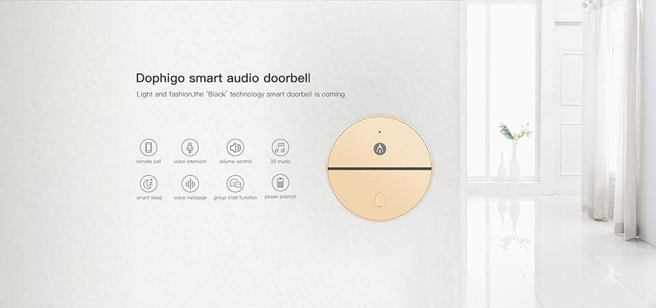 Audio Wireless Doorbell 1b Gold