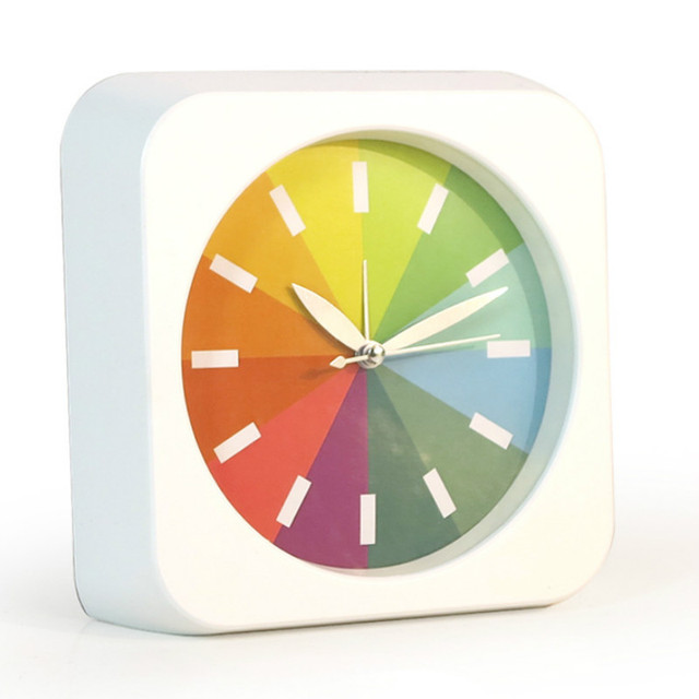 Colour Quartz Table Clock Modern Timer Snooze Creat Portable Mini Children  Student Clock Desk Table Alarm