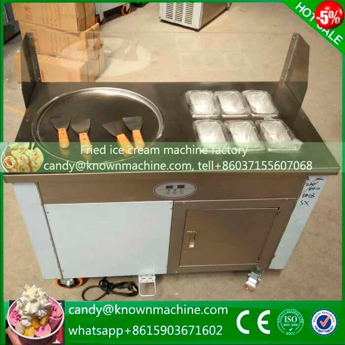 South Africa ice pan machine fried ice cream single round pan with 6 tanks