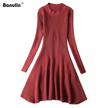 Fall Pullover Sweater Women Winter Ribbed Knitted Tops Ladies Knitwear 2019 O Neck Christmas Sweaters Long Pull Femme Hiver