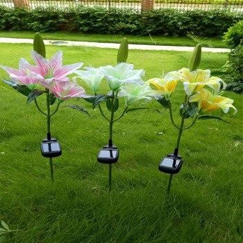 CLAITE Outdoor Solar Power LED Licht Lilie Blume Lampe für Hof Garten Rasen Pathway Landschaft Dekorative Nacht Licht