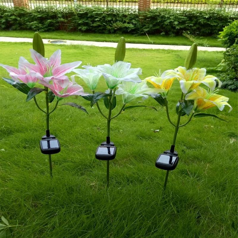 Extérieure Paysage Lampe Énergie Pour Cour Fleur Led Lumière Veilleuse Jardin Pelouse Décoratif Solaire Claite Voie Lys f6gvYby7