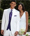 Brand New Groom Tuxedo White Groomsmen Notch Lapel Wedding/Dinner Suits Best Man Bridegroom (Jacket+Pants+Tie+Vest) B188