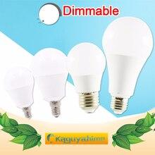 купить LED lamp Dimmable led bulb E27 E14 AC 220V 240V Smart IC Real Power lampada 20W 18W 15W 12W 9W 6W 3W LED E27 Bombilla Ampoule дешево