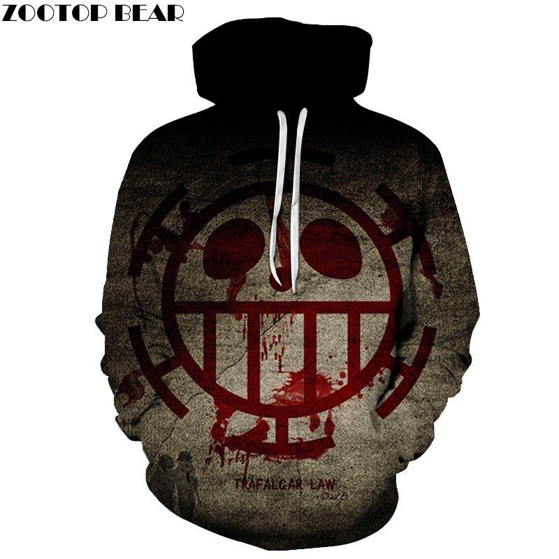 One Piece Face 3D Print Brand Casual Hoody Sweatshirt Men Tracksuit Hoodies Pullover Streetwear Cloth Unisex DropShip ZOOTOPBEAR