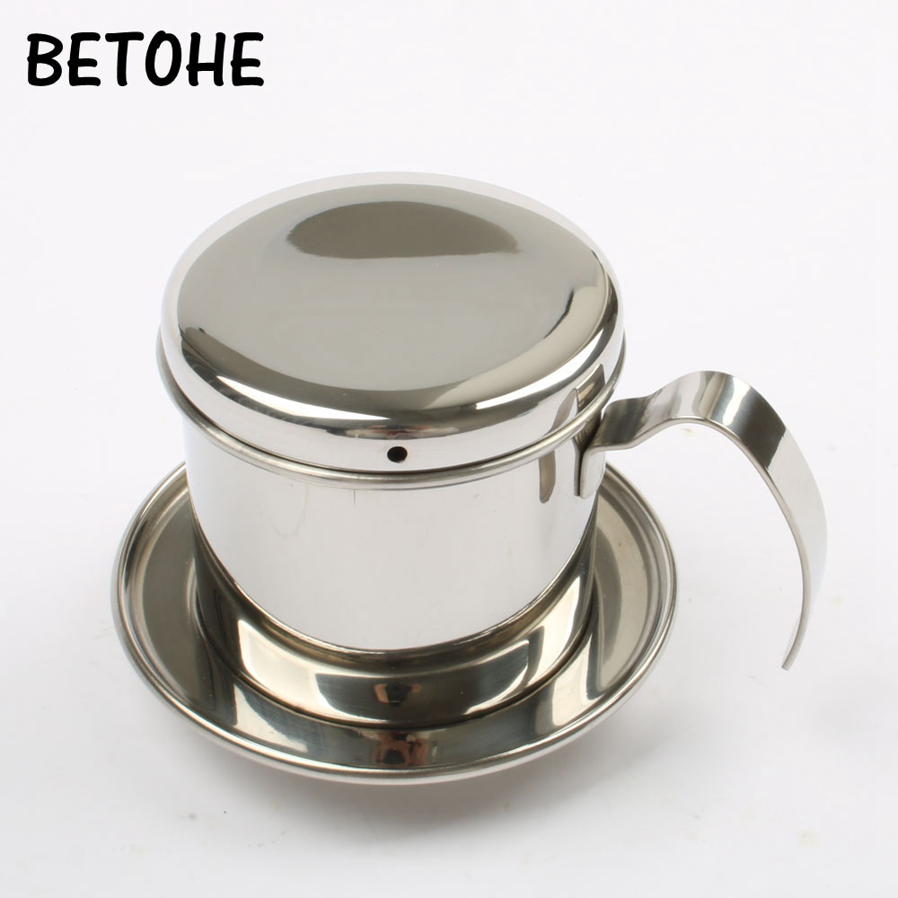 BETOHE The <font><b>portable</b></font> <font><b>stainless</b></font> <font><b>steel</b></font> <font><b>Vietnam</b></font> <font><b>Coffee</b></font> <font><b>Dripper</b></font> filter <font><b>coffee</b></font> maker high quality drip <font><b>coffee</b></font> filter pot filters tools image