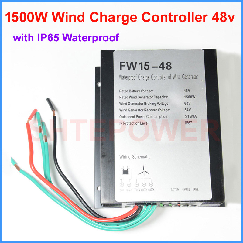 IP67 waterproof wind charger controller 1500W AC 48V wind turbines generator Free Shipping Three Phase AC