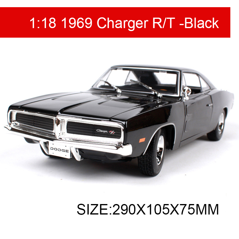 1:18 diecast Car 1969 Charger R/T Muscle Cars 1:18 Alloy Car Metal ...