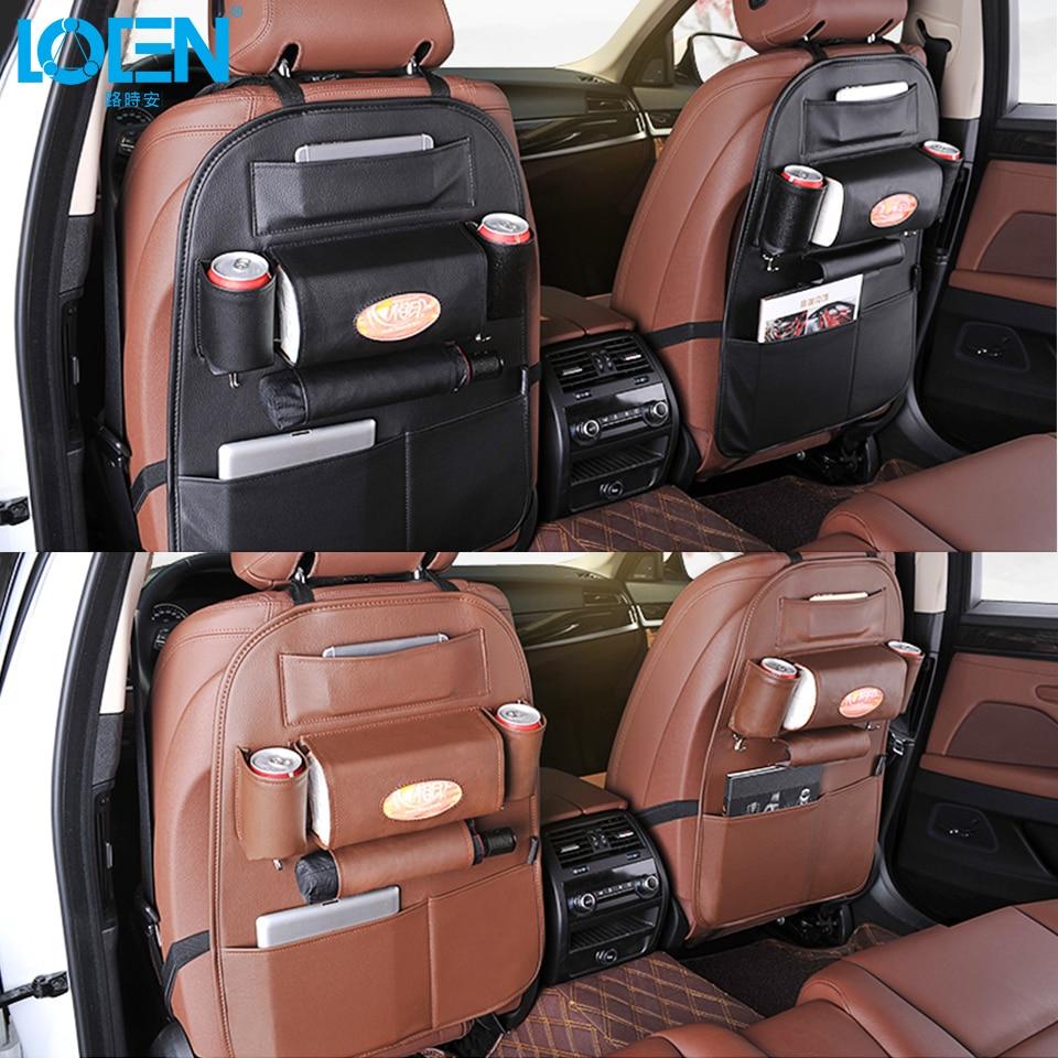 Kualiti PU Kulit Auto SUV Seat Kereta Kembali Penganjur untuk Telefon - Aksesori dalaman kereta - Foto 4