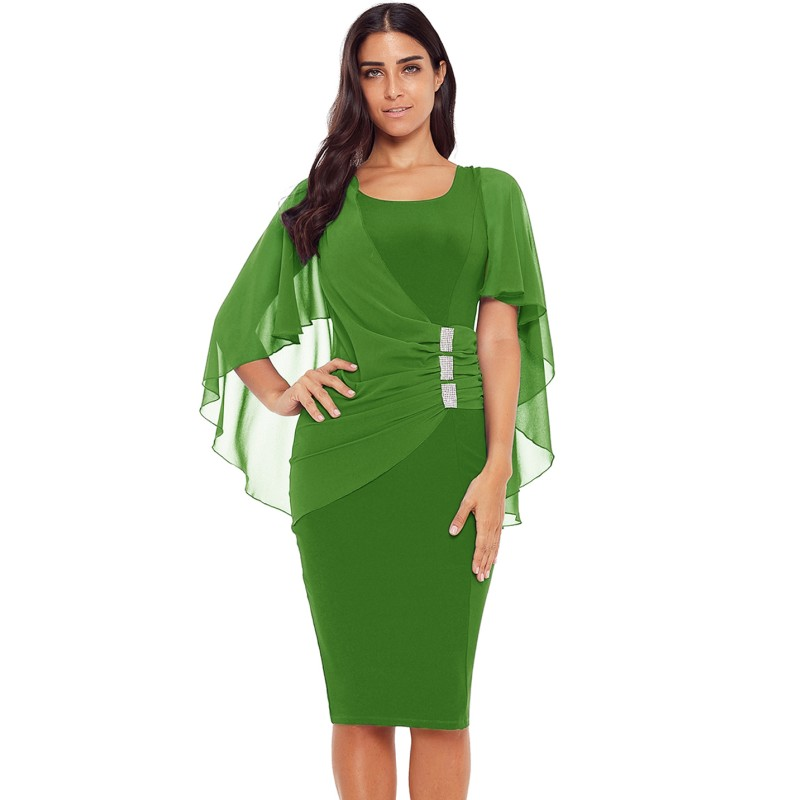 Vestido verde o azul
