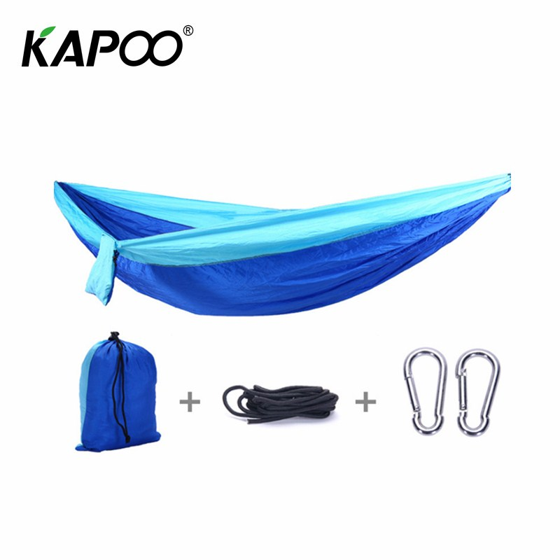 Portable Double Hammock Outdoor Furniture Picnic Mat Camping Hammock Outdoor Swing Chair Parachute Hammock Rest Bed Gift portable double mosquito net hammock double parachute hammock outdoor furniture camping hammock picnic mat outdoor hammock
