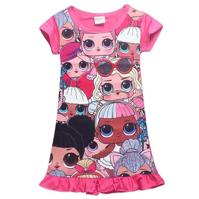 faabdc9f31874 Été filles robe bande dessinée bébé filles robe princesse robe bébé ...