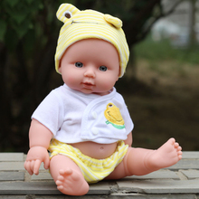 купить 30cm Children Simulation Doll Baby Toy Birthday Gift Newborn Reborn Doll Baby Simulation Soft Vinyl Dolls Cheap Gifts Toys по цене 593.32 рублей