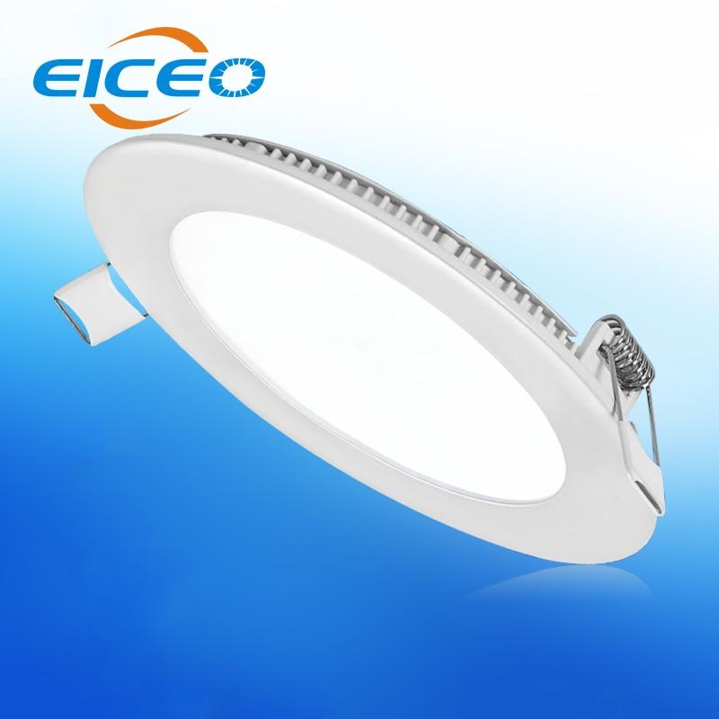 (EICEO) ულტრა თხელი LED პანელის შუქნიშანი, გამჭვირვალე ნათურის ბინა მრგვალი მოედანი მისაღები ოთახი თხელი ჭერის ლამპებით