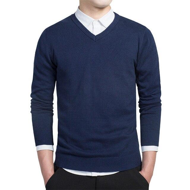 Autumn Fashion Casual Men Sweaters Pullover Slim Fit  2