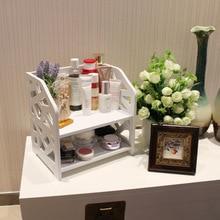 2 Layer Bathroom Shelf Cosmetic Storage Rack Washing Table Makeup Organizer Home Storage